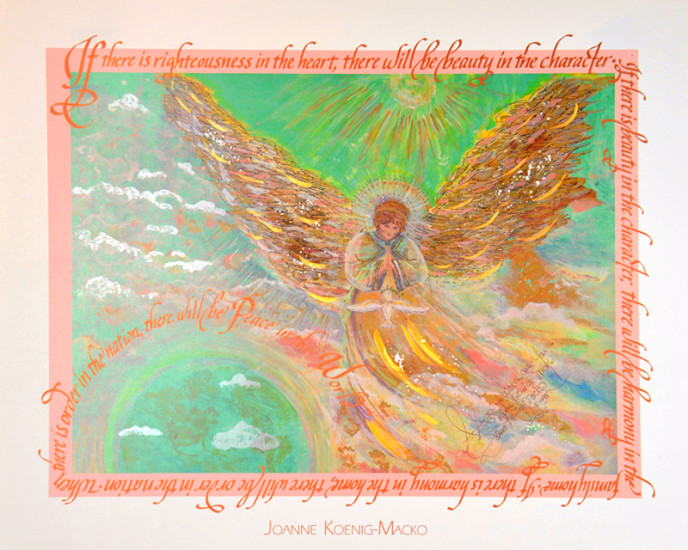 World Peace Angel by Joanne Macko