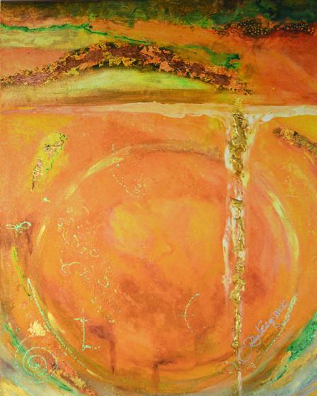 Orange Portal by Joanne Macko