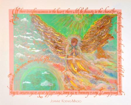 World Peace Angel by Joanne Macko